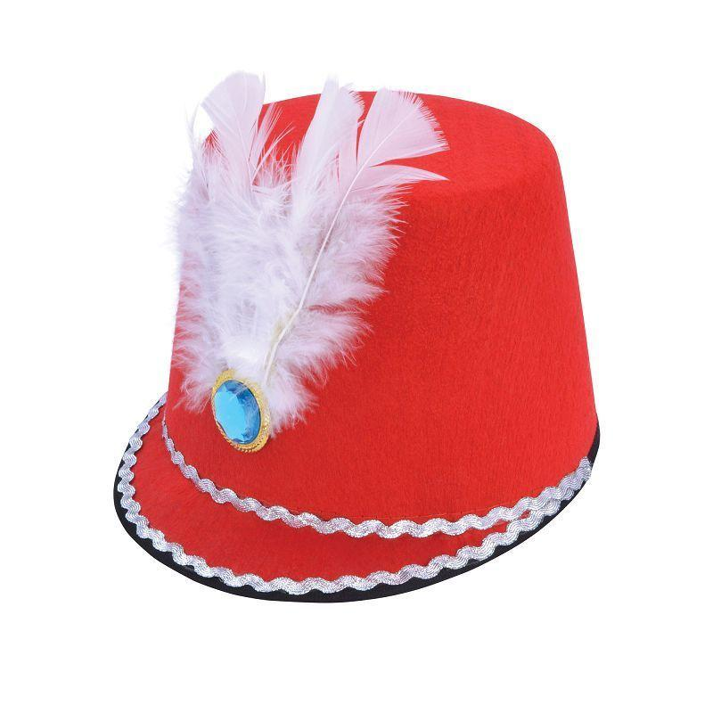 Womens Majorette Hat. Red ( Hats) - Female - One Size Halloween Costume
