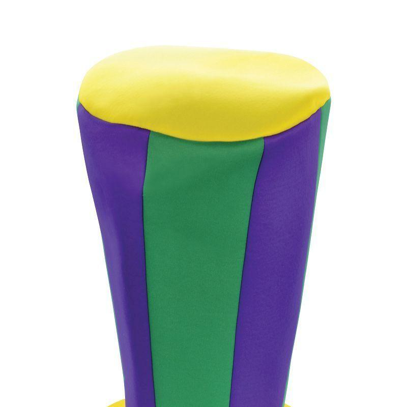Mens Mad Hatter Tall Hat. Purple/Green/Yellow( Hats) - Male - One Size Halloween Costume