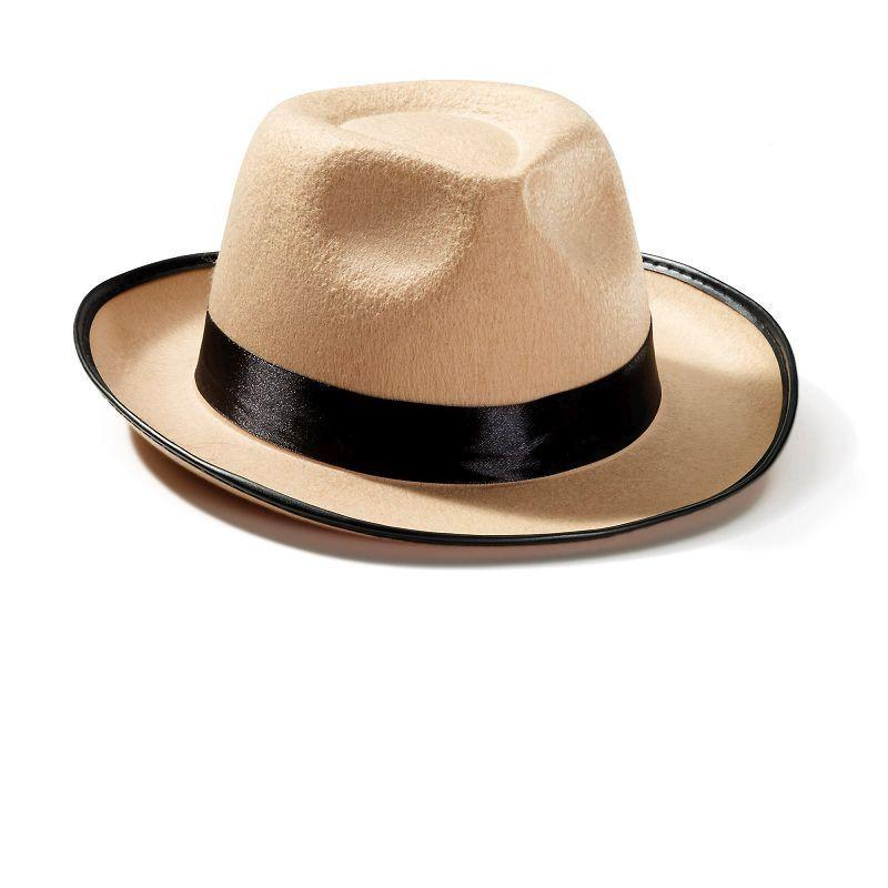 Mens Fedora Beige (Hats) - Male - One Size Halloween Costume