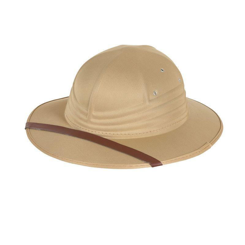 Safari Hat Beige Nylon Felt (Hats) - One size fits most