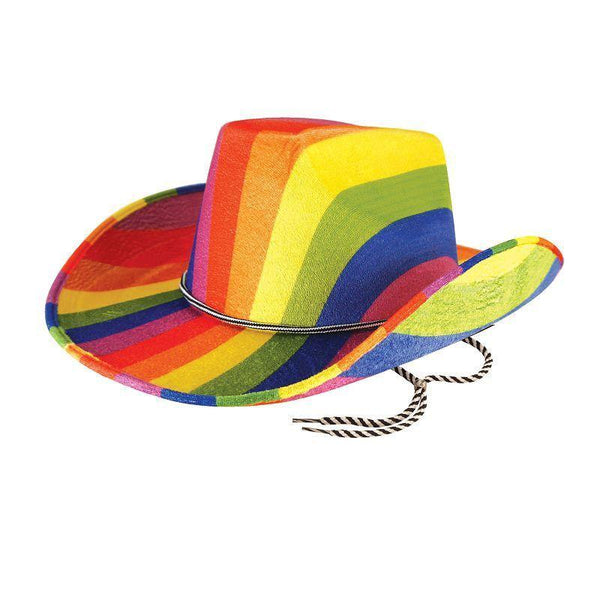 Rainbow Cowboy Hat (Hats) - One size fits most