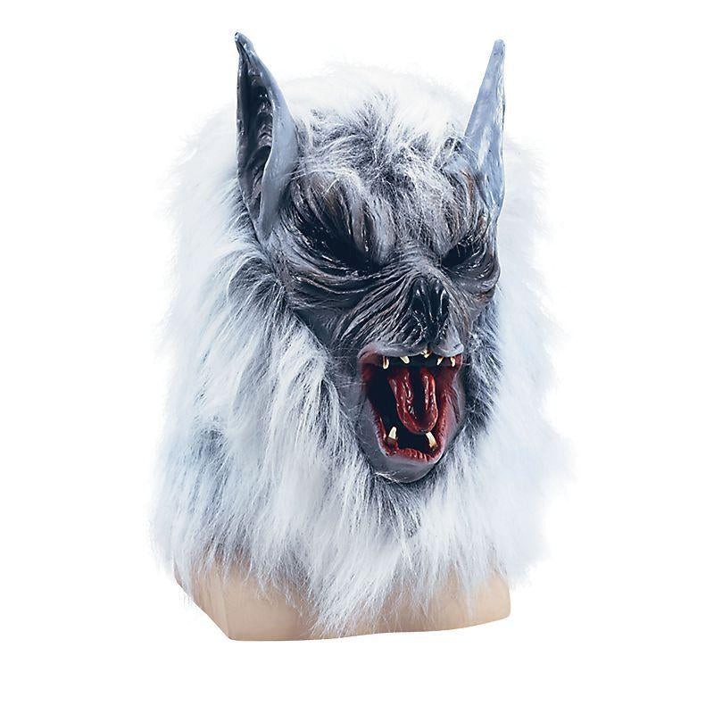 Grey Killer Wolf Mask Budget (Rubber Masks) - Unisex - One Size