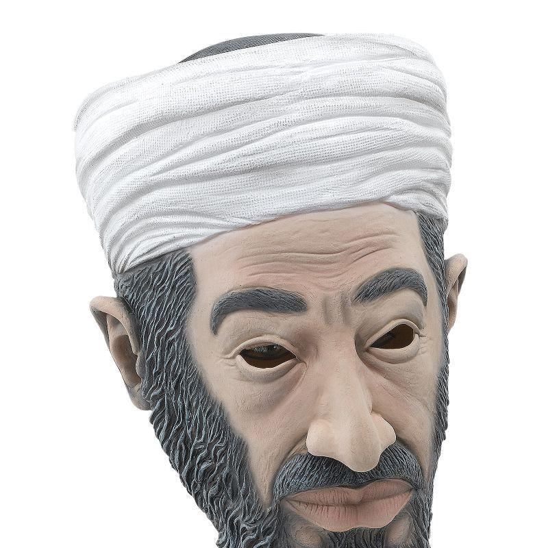 Mens Bin Laden Budget Rubber Mask (Rubber Masks) - Male - One Size Halloween Costume