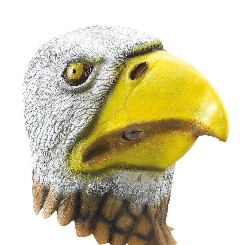 Eagle Bird Mask. Rubber Overhead (Rubber Masks) - Unisex - One Size