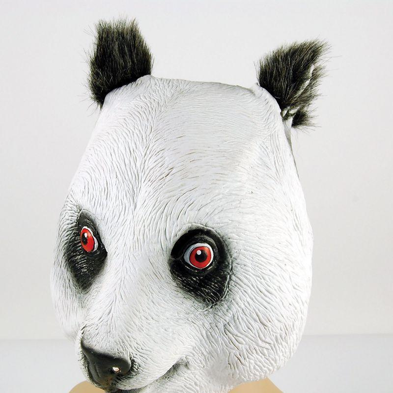Panda Rubber Overhead Mask (Rubber Masks) - Unisex - One Size