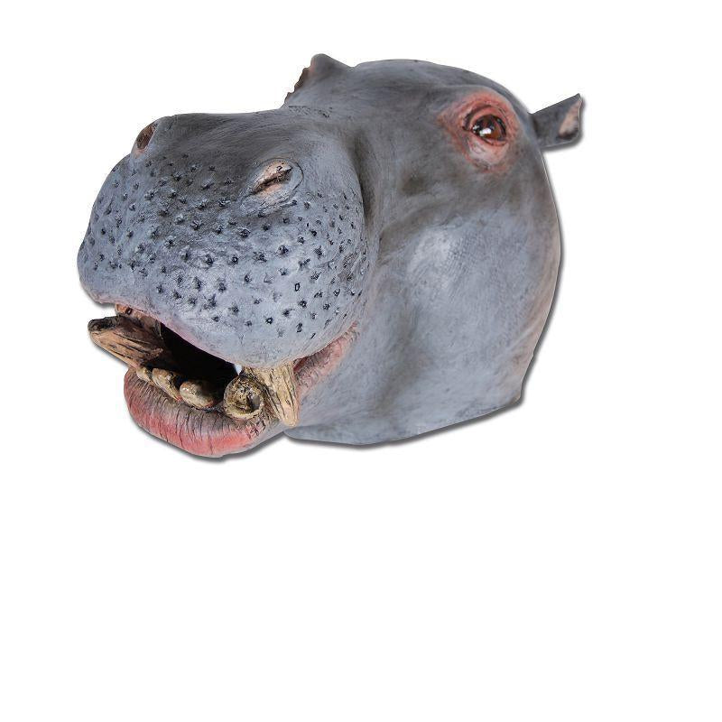 Hippo Rubber Overhead Mask (Rubber Masks) - Unisex - One Size
