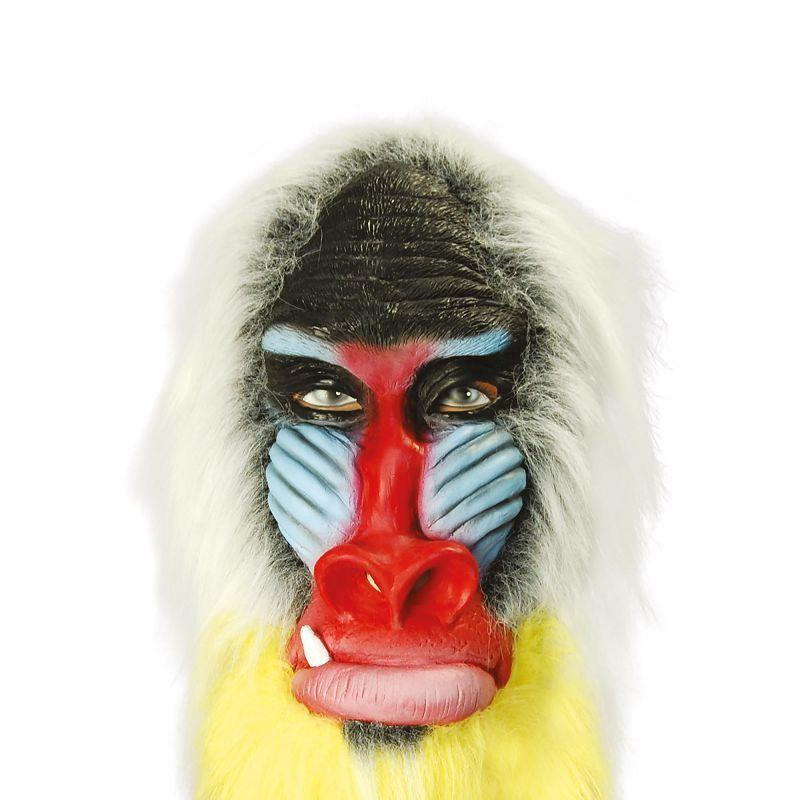 Mens Baboon. Rubber, Overhead (Rubber Masks) - Male - One Size Halloween Costume