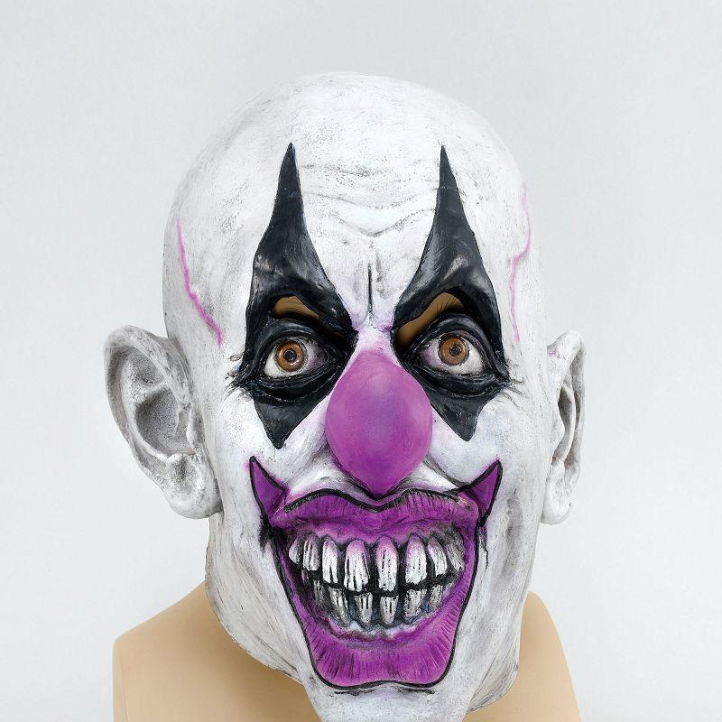Mens Scary Clown (Rubber Masks) - Male - One Size Halloween Costume
