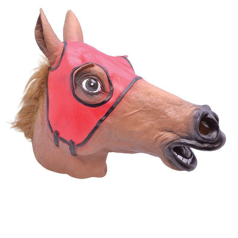 Racing Horse Mask. Brown Masks - Unisex - One Size