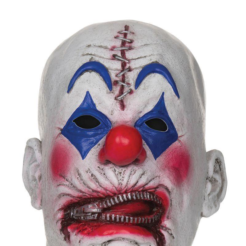 Mens Zipper Clown Mask . White Masks - Male - One Size Halloween Costume