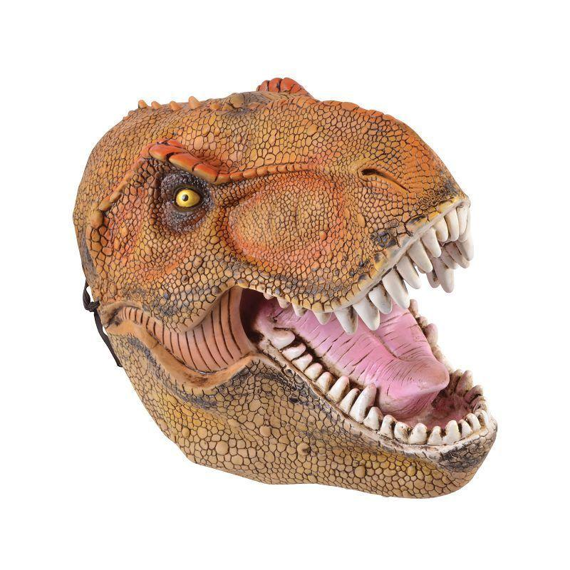 Dinosaur PVC Adult Mask (Rubber Masks) - Male - One Size