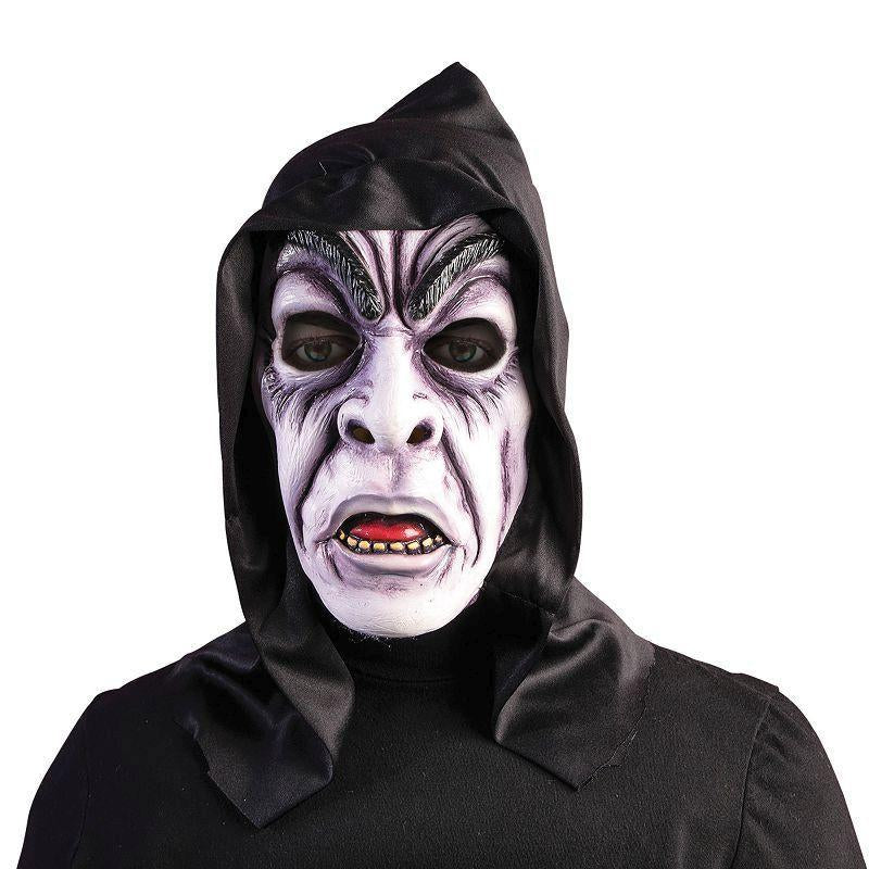 Hooded Zombie Ghoul Mask (Rubber Masks) - Male - One Size