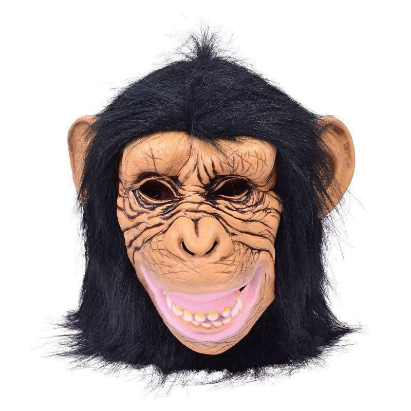 Chimp Mask (Rubber Masks) - Male - One Size