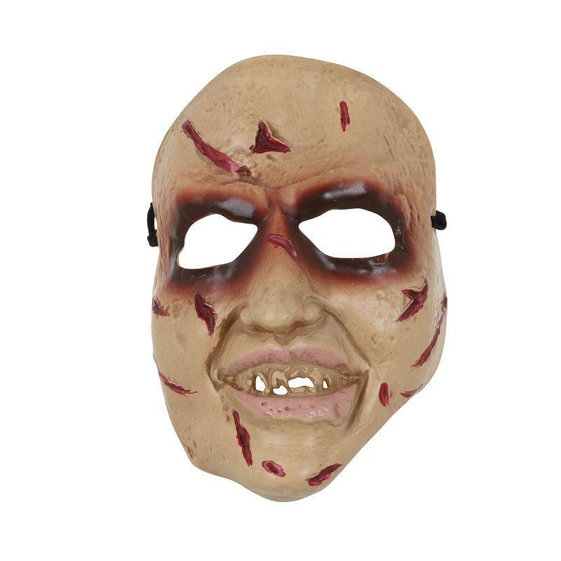 Horror Face Mask Smiling PVC (Rubber Masks) - Unisex - One Size Fits Most