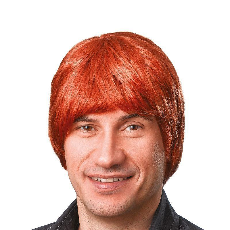 Mens Male Wig. Short. Ginger (Wigs) - Male - One Size Halloween Costume