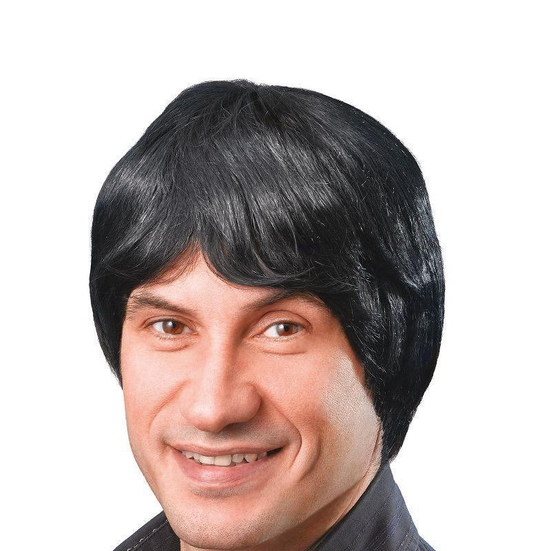 Mens Male Wig. Short. Black (Wigs) - Male - One Size Halloween Costume
