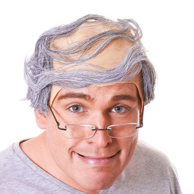 Mens Baldy Man Wig (Wigs) - Male - One Size Halloween Costume