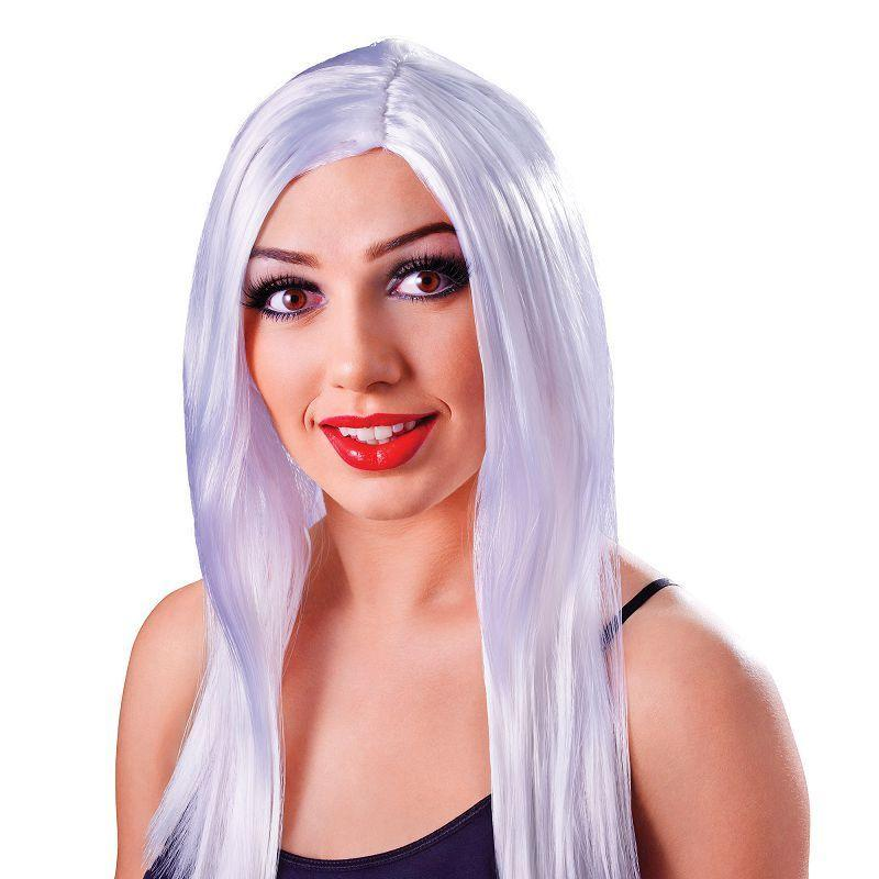 "Womens Long 18"" Wig. White (Wigs) - Female - 18"" Halloween Costume"