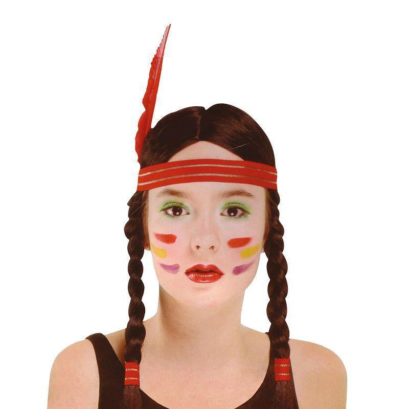 Womens Indian Squaw Wig (Wigs) - Female - One Size Halloween Costume