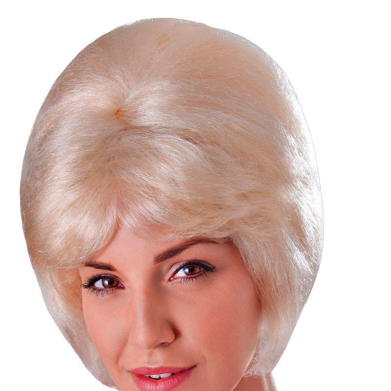 Womens High Beehive Wig. Blonde (Wigs) - Female - One Size Halloween Costume