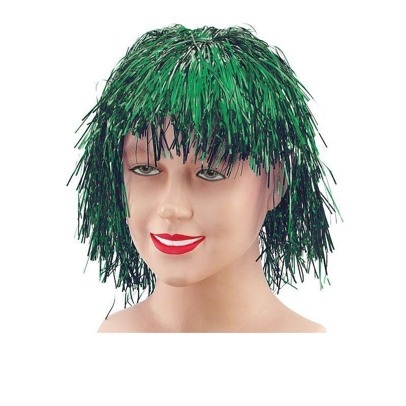 Tinsel Wig. Green (Wigs) - Unisex - One Size