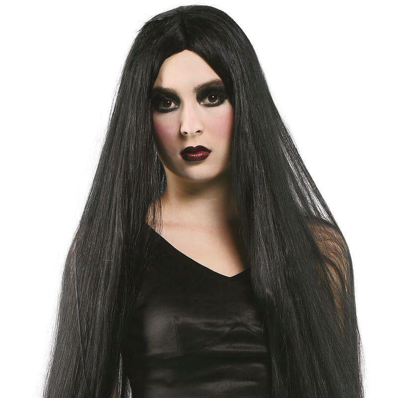 "Womens Long 40"" Wig. Black (Wigs) - Female - 40"" Halloween Costume"