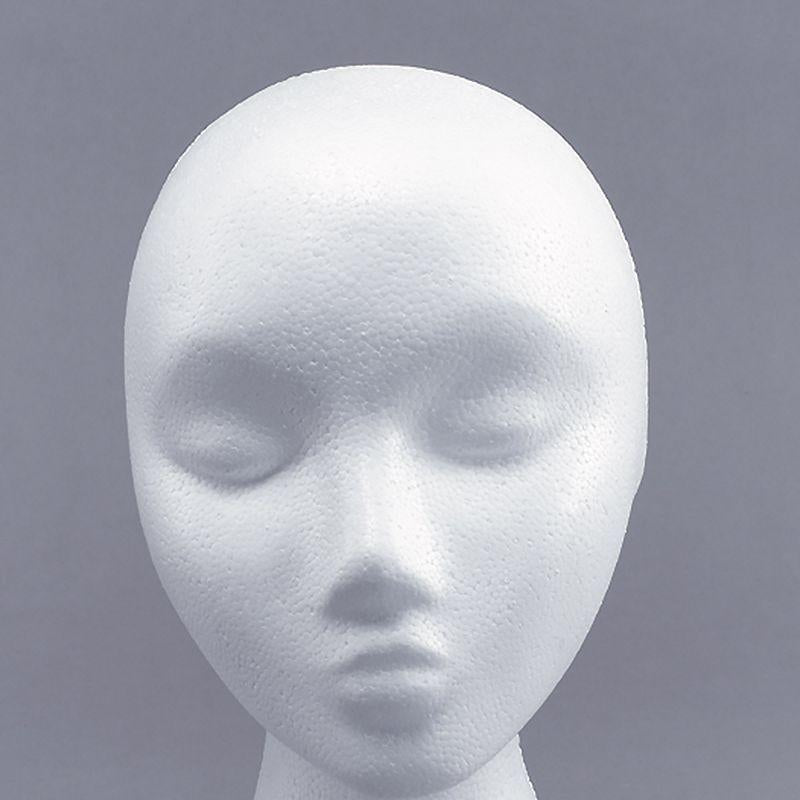 Polystyrene Head. Female (Wigs) - Unisex - One Size