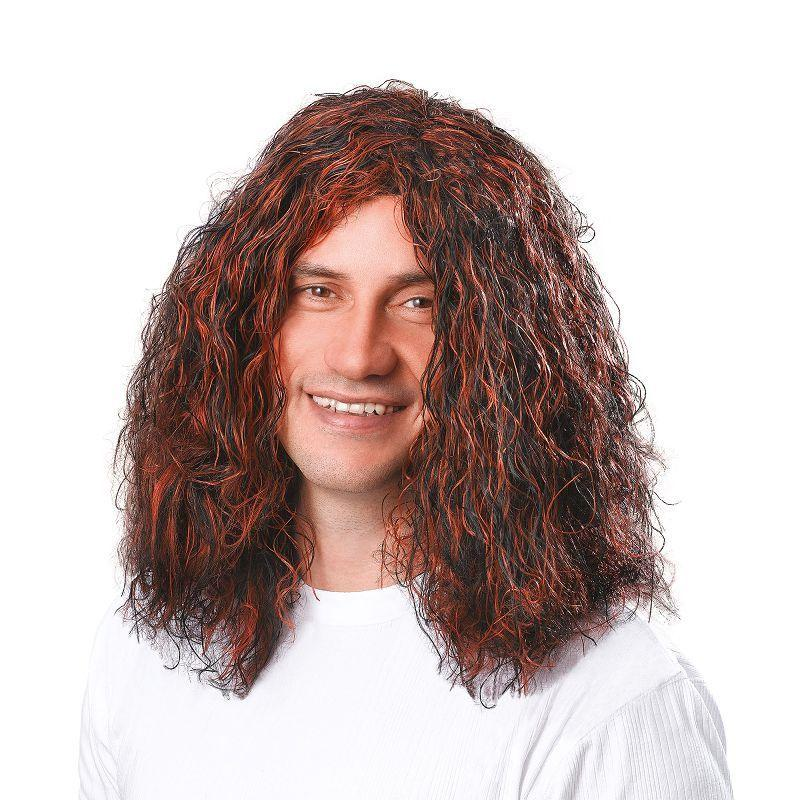 Mens Mans Hippy Brown/Black Wig (Wigs) - Male - One Size Halloween Costume