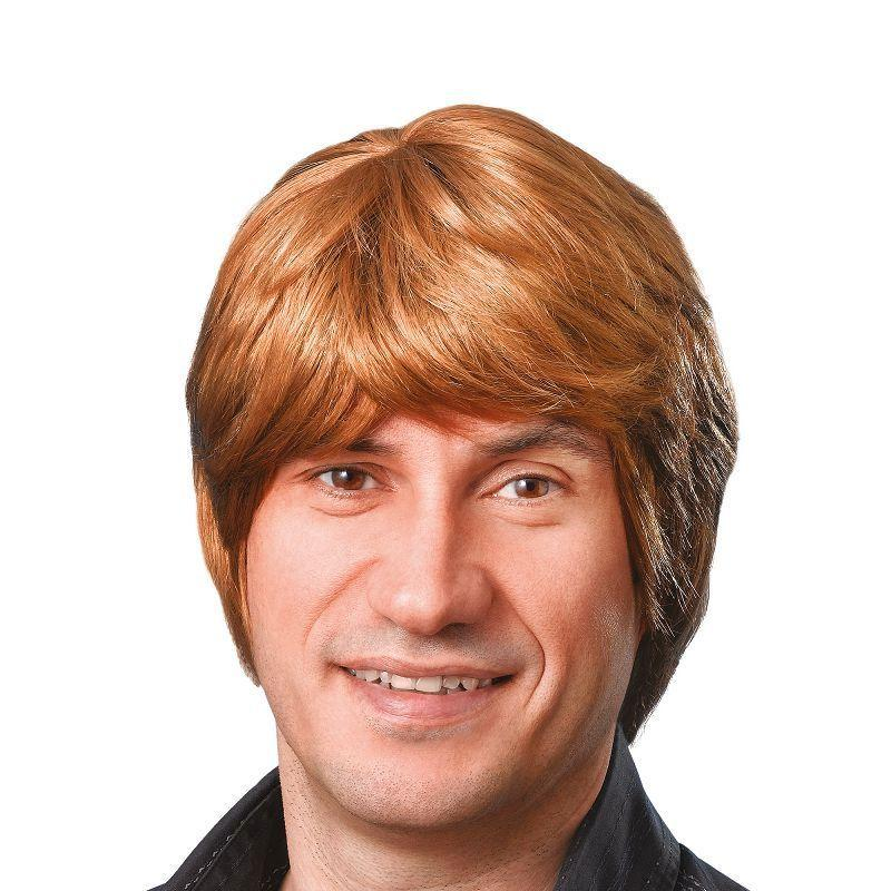 Mens Male Wig. Short. Brown (Wigs) - Male - One Size Halloween Costume