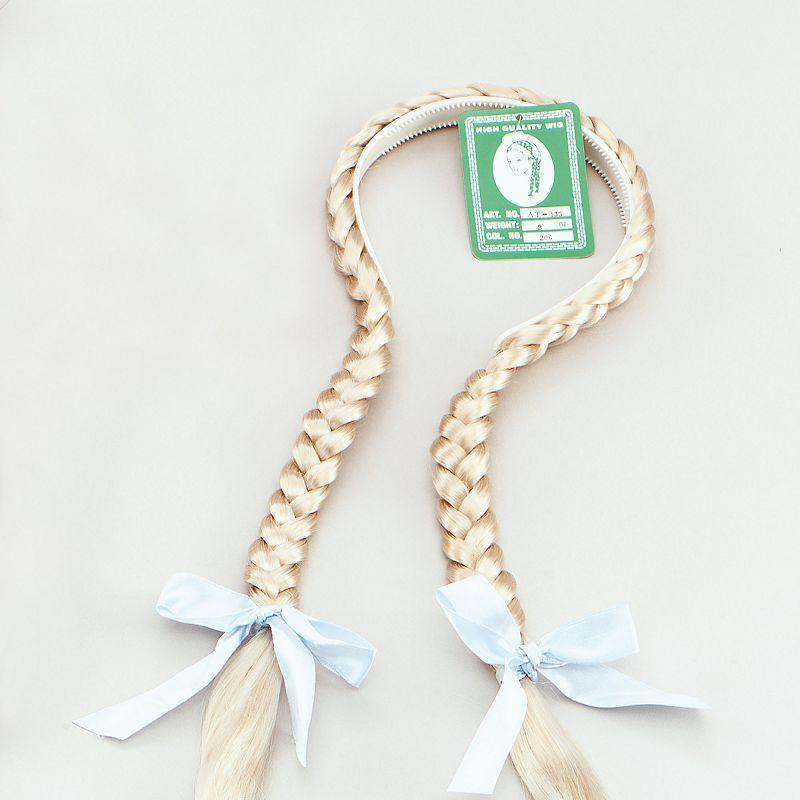Plaits On A Headband. Blonde (Wigs) - Unisex - One Size