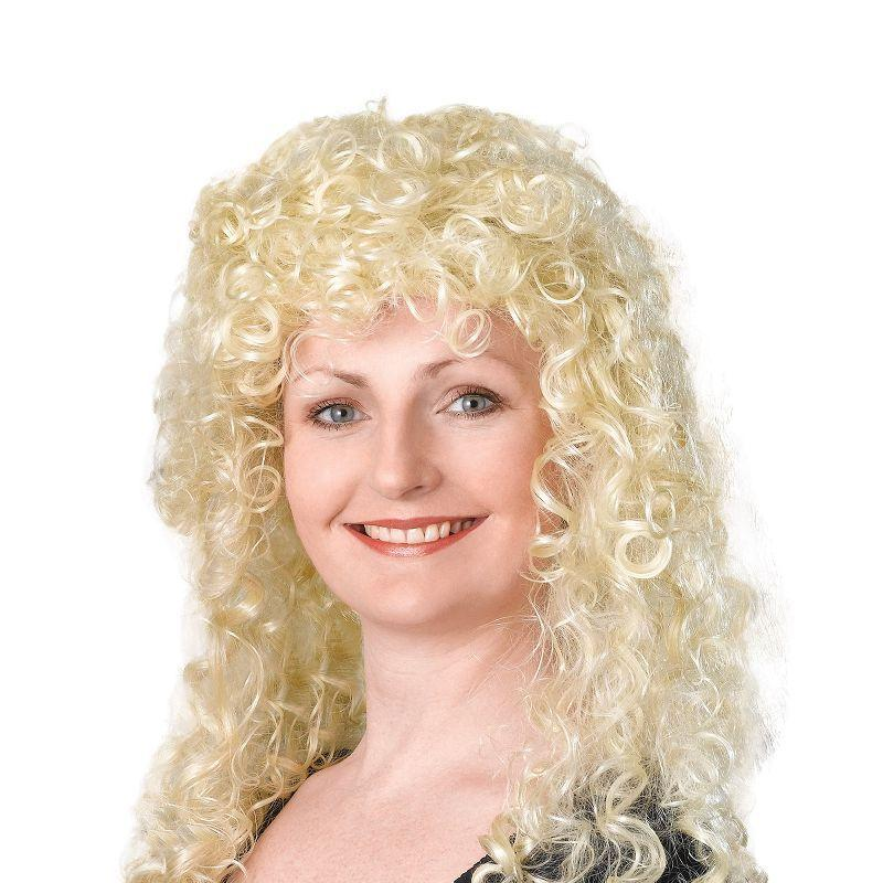 Womens Curly Wig Long. Blonde Budget (Wigs) - Female - One Size Halloween Costume