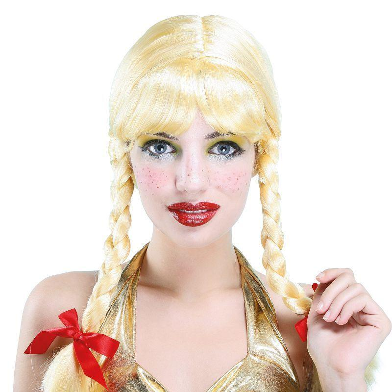 Womens Pigtail Wig. Blonde (Wigs) - Female - One Size Halloween Costume