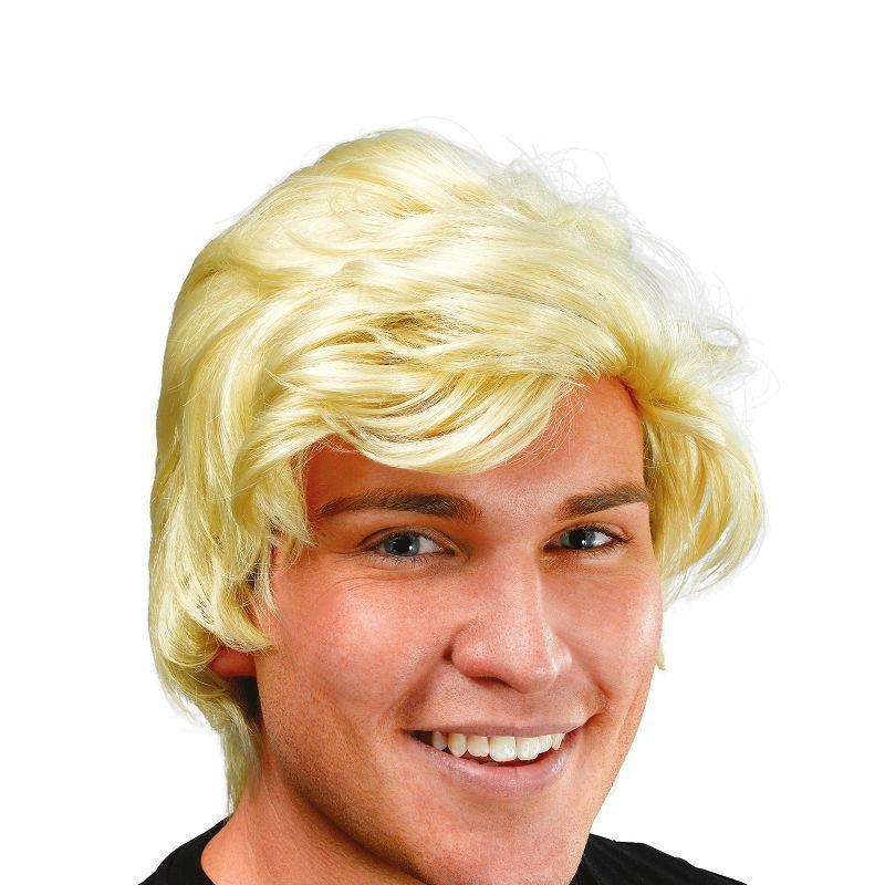Mens Mans Blonde Side Parting Wig (Wigs) - Male - One Size Halloween Costume