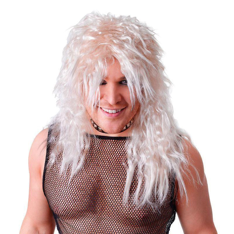 Mens Male Blonde Rock Star Wig (Wigs) - Male - One Size Halloween Costume
