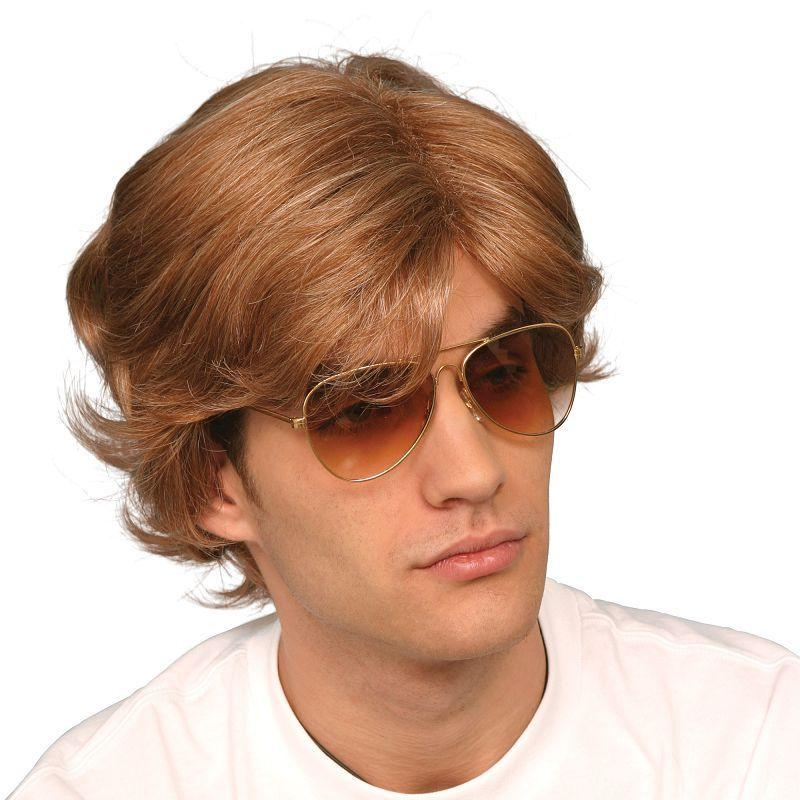 Mens George Michael 80s Male Wig (Wigs) - Male - One Size Halloween Costume
