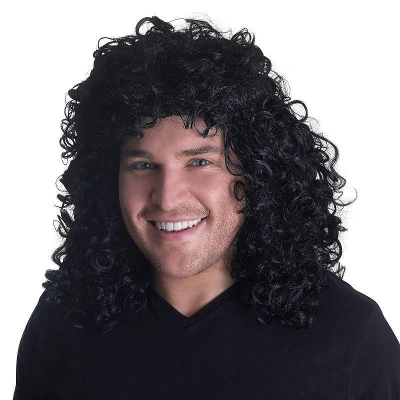 Glam Rock Black Wig (Wigs) - Unisex - One Size