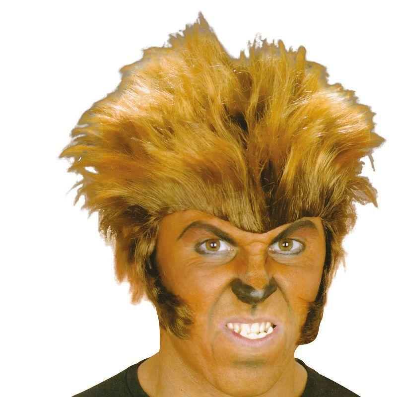 Mens Wolfman Wig (Wigs) - Male - One Size Halloween Costume