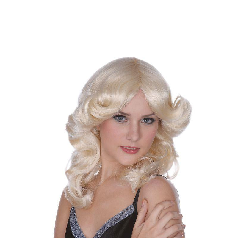 Womens Madonna Style Wig. Blonde (Wigs) - Female - One Size Halloween Costume