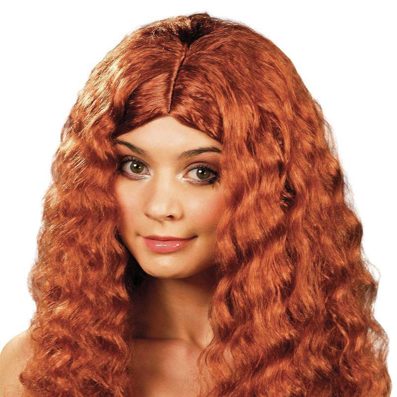 Womens Frizzy Wig Long. Auburn (Wigs) - Female - One Size Halloween Costume