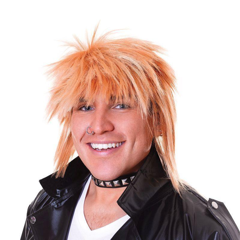 Mens Spikey Wig. Male Blonde (Wigs) - Male - One Size Halloween Costume