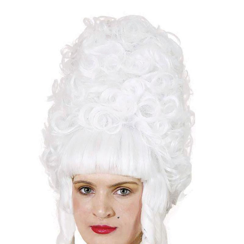 Womens Lady Pompadour. White (Wigs) - Female - One Size Halloween Costume
