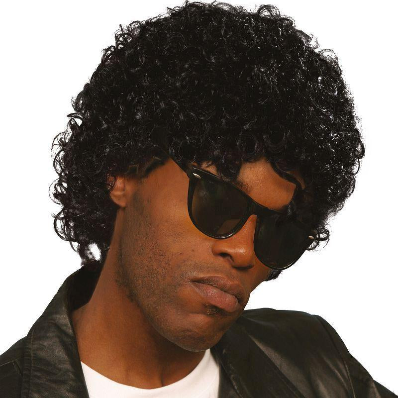 Mens Wet Look Curly. (Wigs) - Male - One Size Halloween Costume