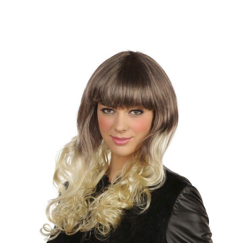 Womens Pop Girl. Blonde/Brown (Wigs) - Female - One Size Halloween Costume