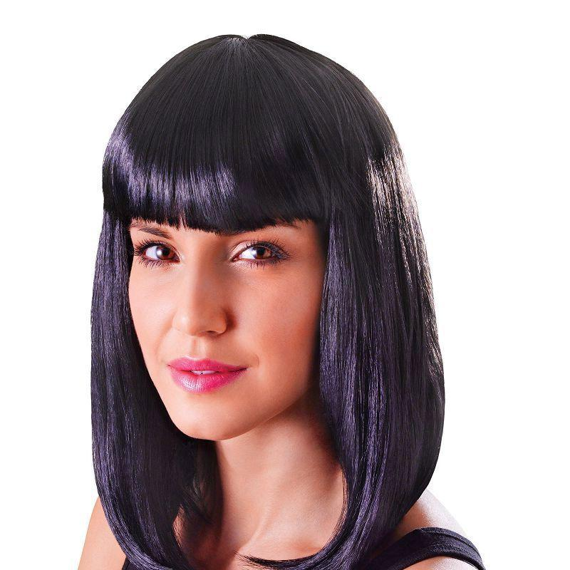 Womens Chic Doll. Black. (Wigs) - Female - One Size Halloween Costume