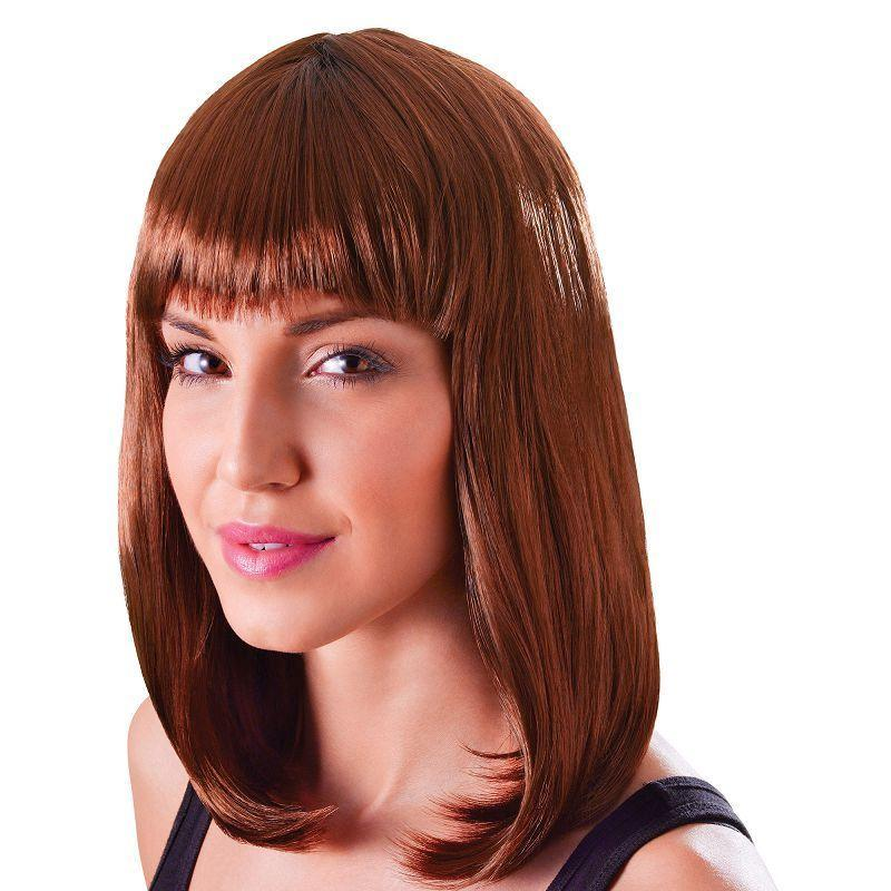 Womens Chic Doll. Brown. (Wigs) - Female - One Size Halloween Costume