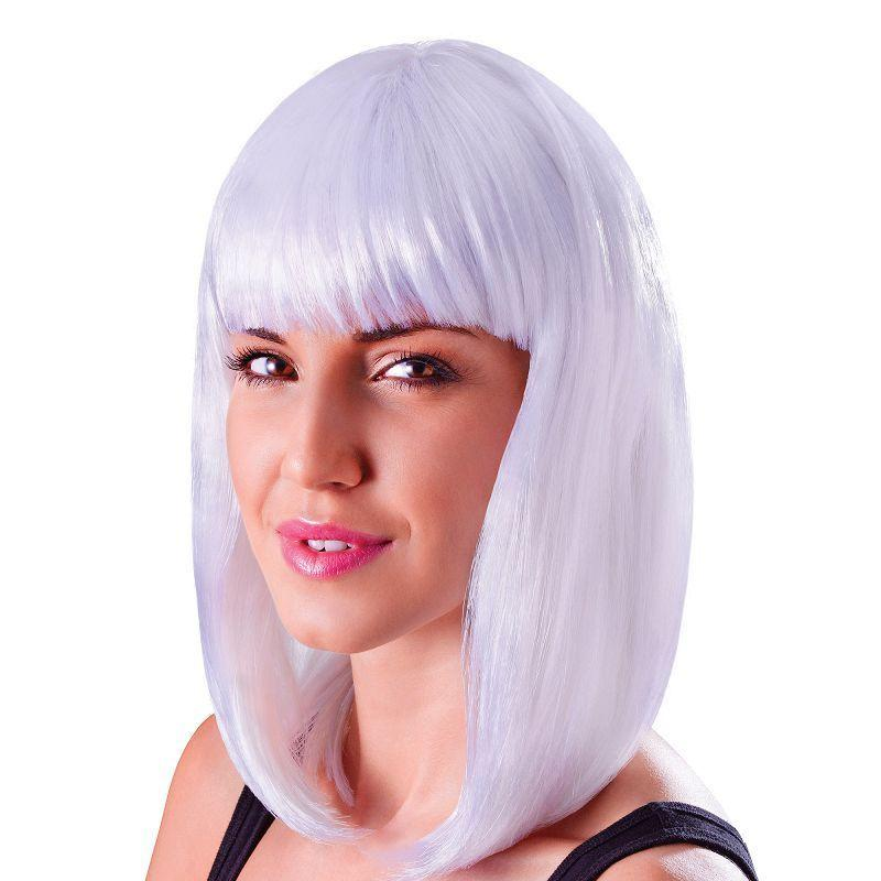 Womens Chic Doll. White. (Wigs) - Female - One Size Halloween Costume