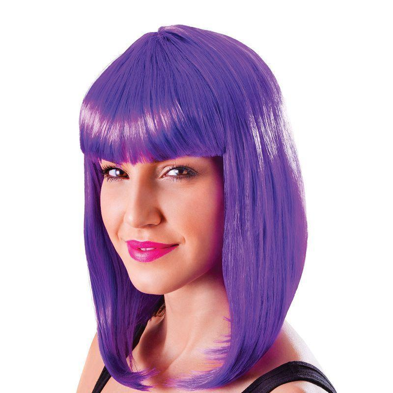 Womens Chic Doll. Neon Purple. (Wigs) - Female - One Size Halloween Costume