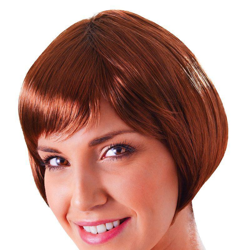 Womens Flirty Flick. Brown. (Wigs) - Female - One Size Halloween Costume