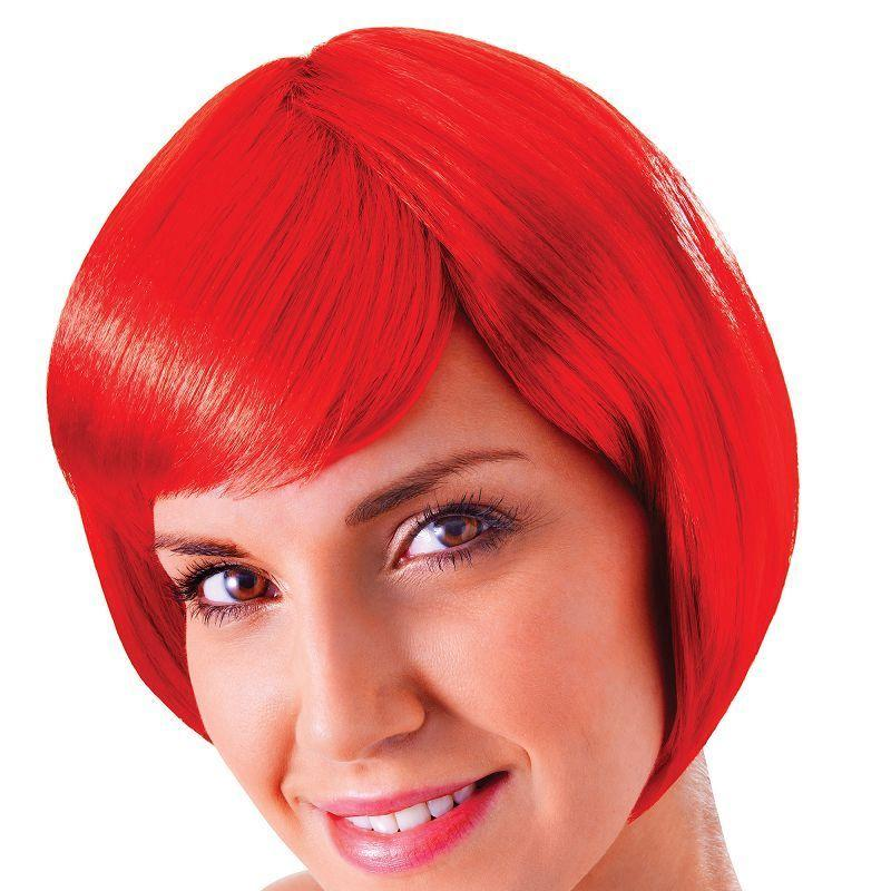 Womens Flirty Flick. Red. (Wigs) - Female - One Size Halloween Costume