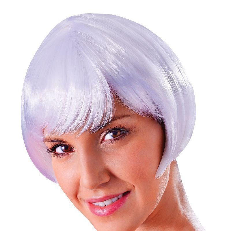 Womens Flirty Flick. White. (Wigs) - Female - One Size Halloween Costume